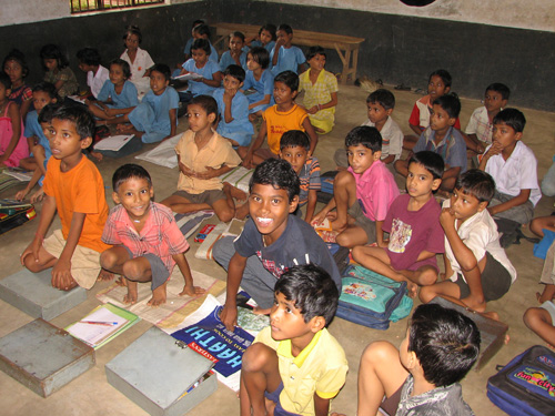 Distribution of School Supplies at Bhadrak Primary School