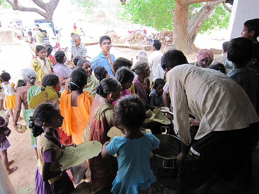 Food Relief in Tadivada Village