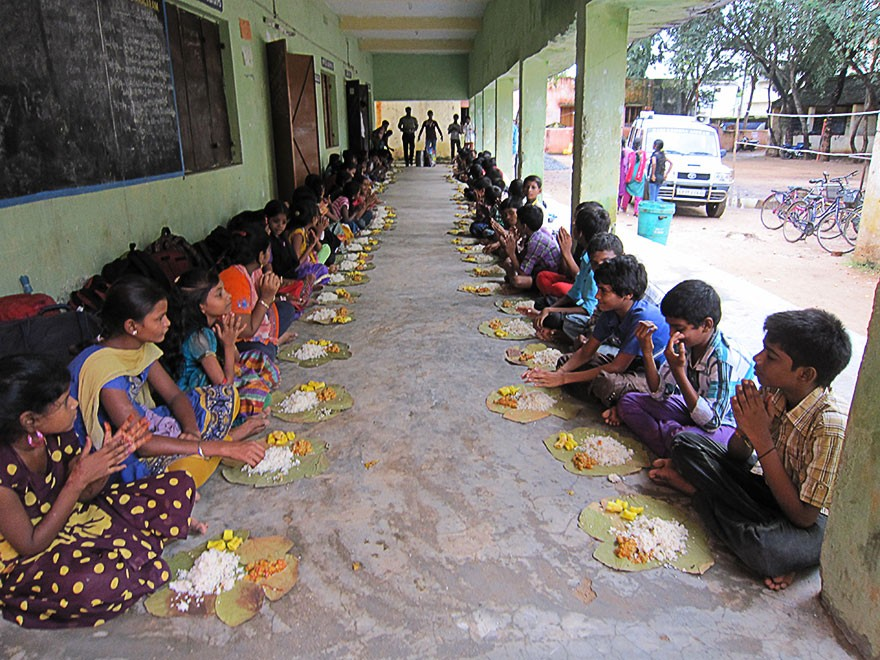 Food Distribution in Vizianagaram at Urban Deprived Residential Hostel